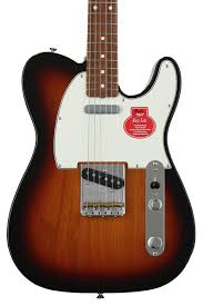 fender classic player baja u002760s telecaster faded sonic blue with