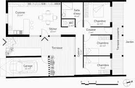 plan plain pied 2 chambres plan maison etage 4 chambres gratuit unique plan maison plain pied 2