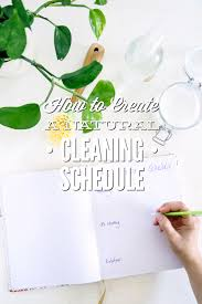 how to create a natural cleaning schedule printable checklist