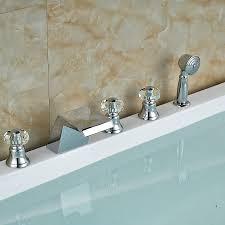 Waterfall Faucet Designs Enchanting Chrome Finish Waterfall Bathtub Faucet Wall