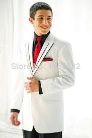 men fashion designer wedding groom tuxedo dinner suit white coat