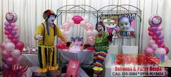 clown magician party host balloon decors for christening