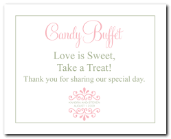 Baby Shower Candy Buffet Sign by Pink Design Events Blog Wedding Reception Signs Wishing Well