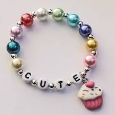 infant name bracelet cupcake charm bracelet cupcake name bracelet cupcake party