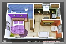 single bedroom house plans indian style 3d isometric views of