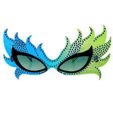 feather mask mardi gras novelty party sunglasses feather mask