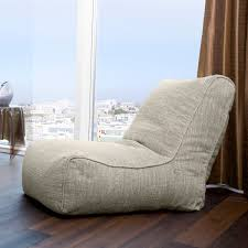 funiture soft light grey bean bag chairs over varnished hardwood