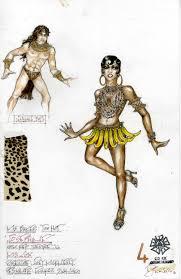 Josephine Baker Halloween Costume Dressing