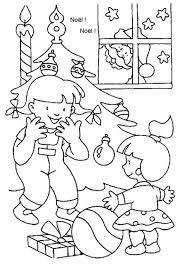 Coloriage noel enfants sur Hugolescargotcom