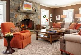 light tan living room brown wall color cream fabric arms bench
