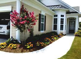Backyard Simple Landscaping Ideas by Exterior Home Landscape Design Concrete Walkway Pretty Garden