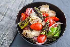 asparagus artichoke salad recipe simplyrecipes com