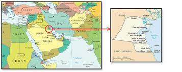 kuwait on a map kuwait 2013