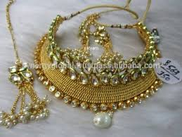 wholesale necklace set images Gold plated heavy bridal choker necklace set wholesale imitation jpg