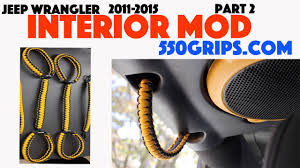 custom jeep interior mods jeep wrangler dozer interior mod part 2 hand grip review 550grips