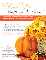 thanksgiving offers leroy offers 50 thanksgiving discount on dysport restylane and