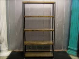 Iron And Wood Bookcase Bookcases Made To Order Of Reclaimed Wood And Recycled Angle Iron