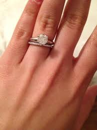 engagement ring and wedding band wedding band engagement ring blushingblonde
