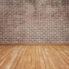 wooden floor with brick wall photo free