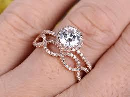 moissanite wedding sets 1 25 carat moissanite wedding sets 14k gold