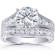 wedding ring set for wedding ring sets moissanite rings for less overstock