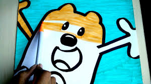 wow wow wubbzy coloring pages coloring orange wubbzy for kids