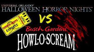 tampa halloween horror nights halloween horror nights vs howl o scream which one do you pick
