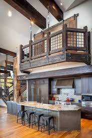 Banister Homes 53 Sensationally Rustic Kitchens In Mountain Homes Rustic