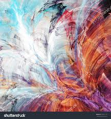 abstract beautiful blue red purple yellow stock illustration