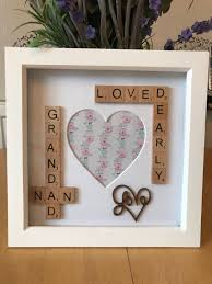 nan nana grandma u0026 grandad scrabble photo box frame gift idea