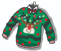 Ugly Christmas Sweater Party Poem - ugly christmas sweater party clip art u2013 happy holidays
