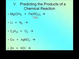 list please predict who the writing and balancing reactions predicting products youtube