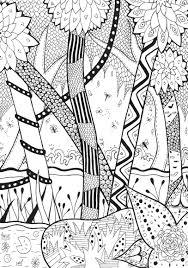 foret zentangle rachel zentangle coloriages difficiles pour