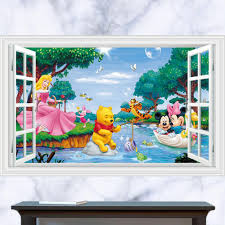 search on aliexpress com by image baby bedroom winnie the pooh wall stickers 3d mickey mouse wall decals for kids room removable cartoon wallpaper