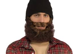 Halloween Costumes Biker Curly Beard Black Brown Grey Hair Mens Biker Halloween