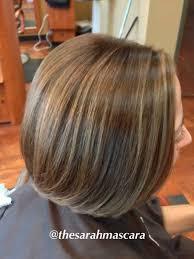 bob hair lowlights bob haircut balayage and color melting lowlights on short brown