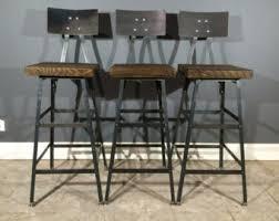 rustic industrial bar stools rustic etsy home pinterest rustic industrial and industrial