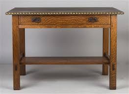 Oak Table L L Jg Stickley Quarter Sawn Oak Library Table By L J G Stickley