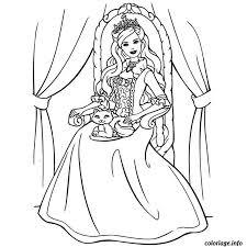 Coloriage Barbie 12 Princesses dessin