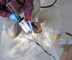 Flo Coat Concrete Resurfacer by Fixing The Concrete Slab With Emecole 555 Around The House