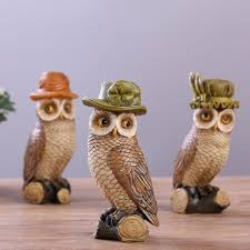 owl ornaments 3 pcs lot owl ornaments handmade interior decorations