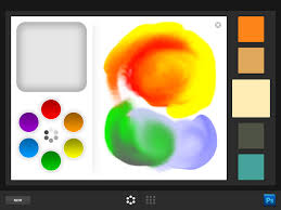 software for ipad adobe color lava and eazel tablet as canvas