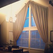 curtains for angled top windows google search home pinterest