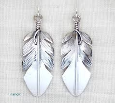 silver feather earrings classic sterling silver feather earrings lena platero navajo 3139sn
