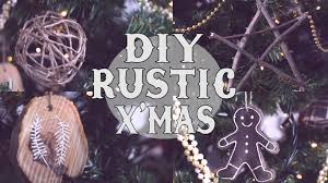 diy rustic tree ornaments