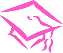 pink graduation cap graduation cap pink clip at clker vector clip