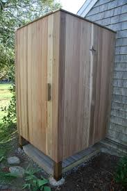 Outdoor Showers Fixtures - an old farm building an outdoor shower