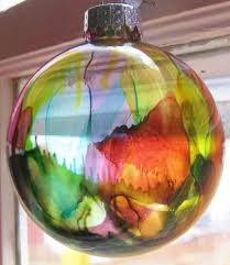 ink ornaments clear glass ornaments ornament and glass