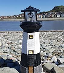solar powered light house garden lighthouse ornament with rotating