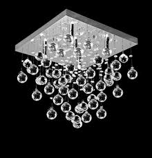 Crystal Flush Mount Ceiling Light Fixture by Modern U0026 Contemporary Flush Mount Crystal Ceiling Lamp Lighting